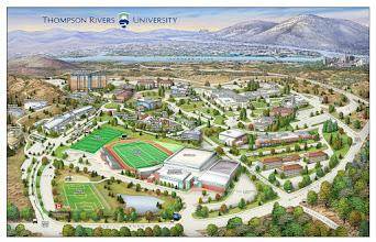Photo: Thompson River University Campus Map For Mapformation LLC