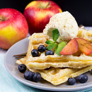 Apple Strudel Puff Pastry Waffles.
