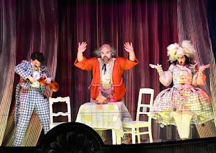 Photo: Salzburger Osterfestspiele 2015: I PAGLIACCI. Premiere 28.3.2015, Inszenierung: Philipp Stölzl. Tansel Akzeybek, Dimitri Platanias, Maria Agresta. Copyright: Barbara Zeininger