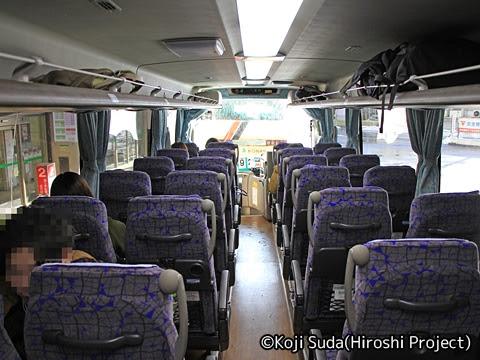 弘南バス「スカイ号」 ・991 車内