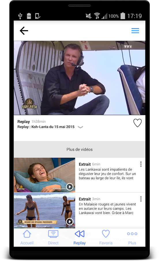 MYTF1- screenshot