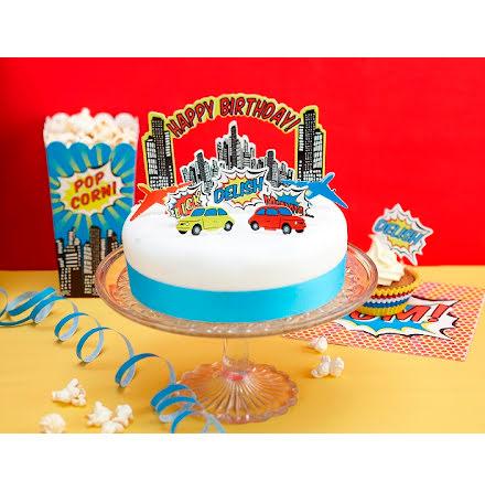 Tårtdekoration - Pop Art Party