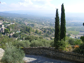 Photo: Now in Gordes, and looking down into the valley, where a number of luxurious vacation homes can be found.
