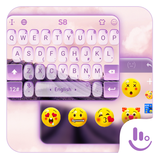 S8 Lavender Keyboard Theme