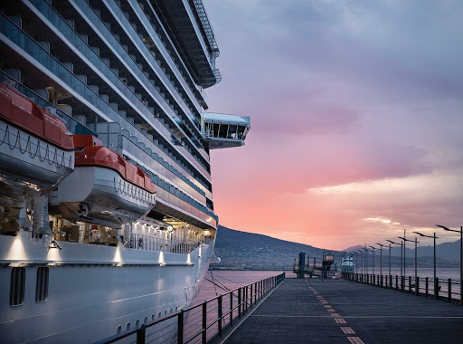 sky-princess-docked-in-naples.jpg - Sky Princess docked in Naples, Italy, one of its European ports of call.
