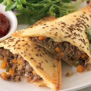 Beef and Feta Triangles