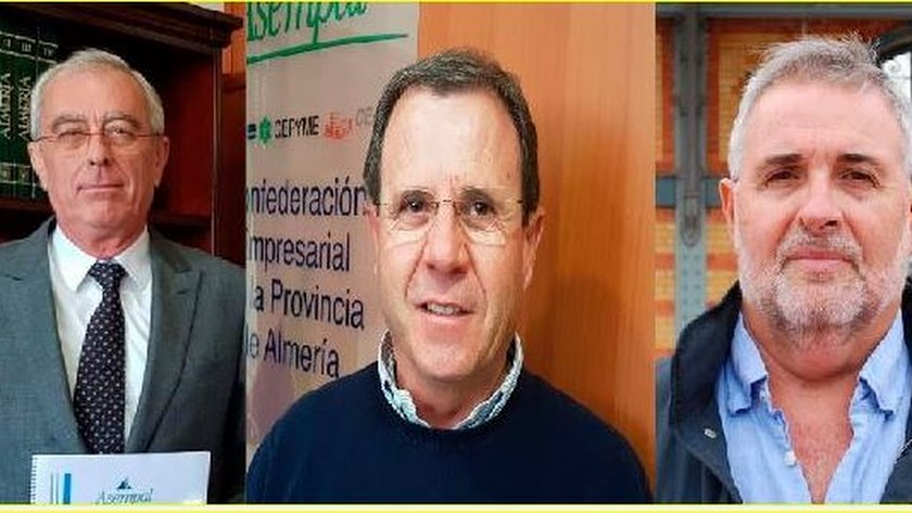 José Cano, Jerónimo Parra y José Carlos Tejada.