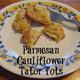 Parmesan Cauliflower Tater Tots