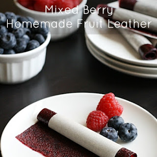Mixed Berry Homemade Fruit Leather.