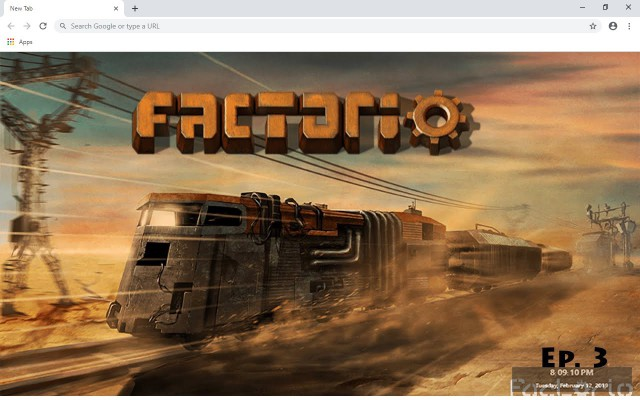 Factorio New Tab & Wallpapers Collection