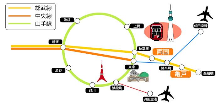 bản đồ tới trường nhật ngữ shurin