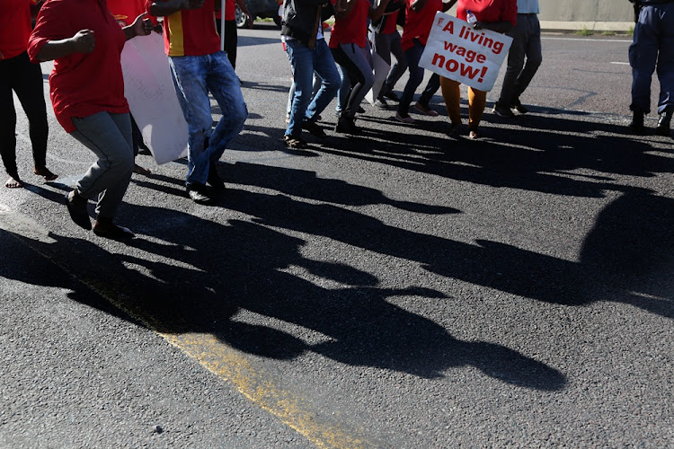 Protesters in KwaZulu-Natal on March 20, 2018.
