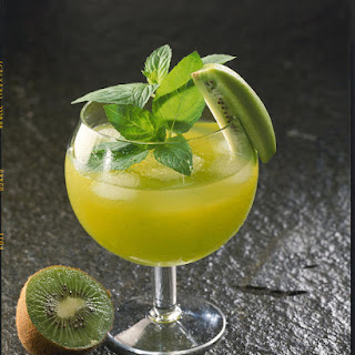 Kiwi and Passion Fruit Cocktail.