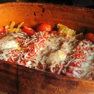 Cannelloni Stuffed with Spinach and Cheese.