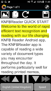 KNFB Reader screenshot 1