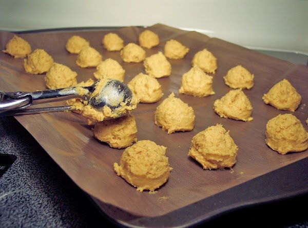 Drop the cookie dough onto the cookie sheet. I used a tablespoon measure melon...