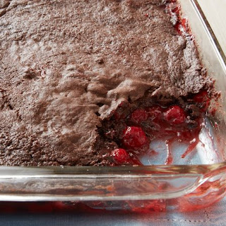 3-Ingredient Chocolate Cherry Dump Cake Recipe
