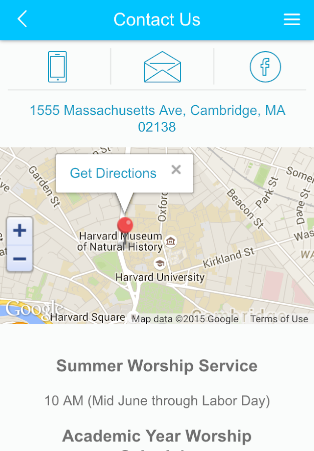 Harvard-Epworth UMC- screenshot