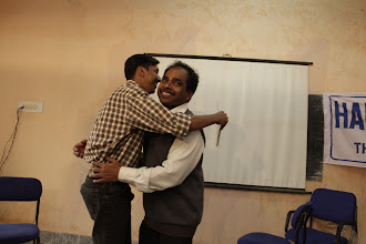Photo: A hug, after the vote of thanks...