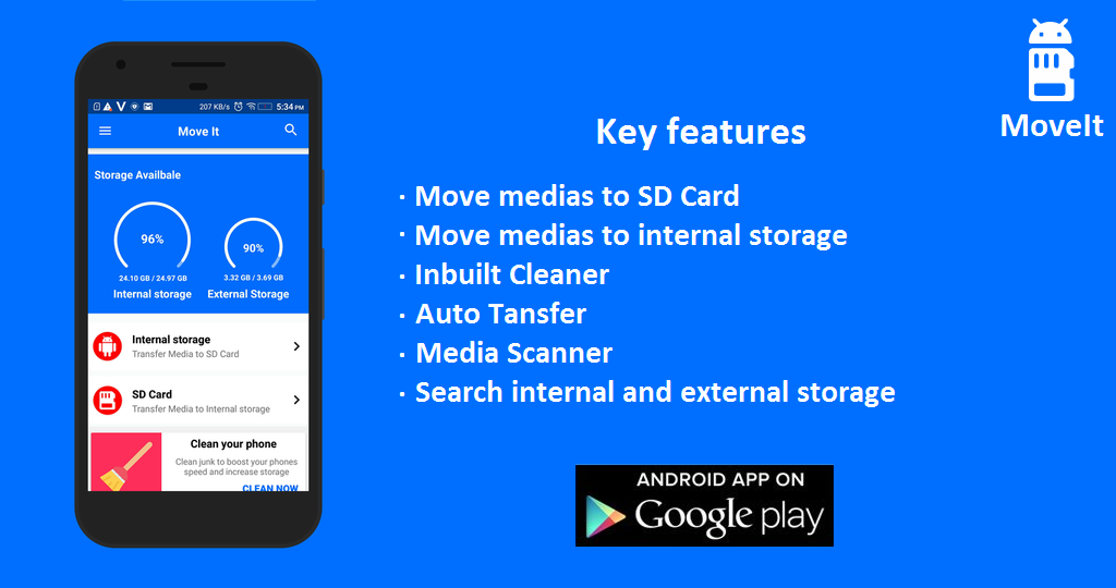 MoveIt: Move Media to SD Card- screenshot