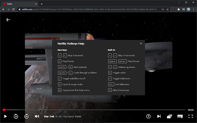 Netflix Hotkeys (Beta)