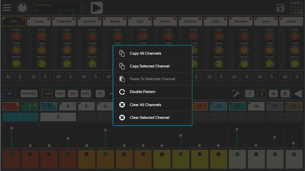 Lil Drum Machine Demo- screenshot