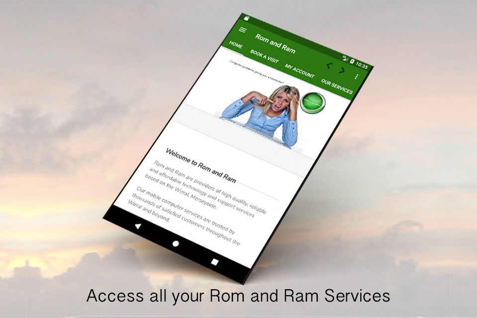 Rom and Ram Booking and Account App- screenshot