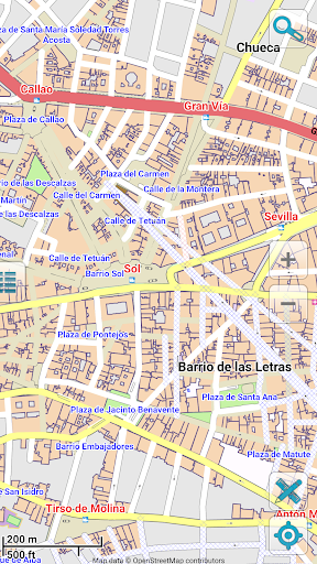 Map of Madrid offline