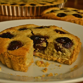 Bing Cherry and Almond Tart