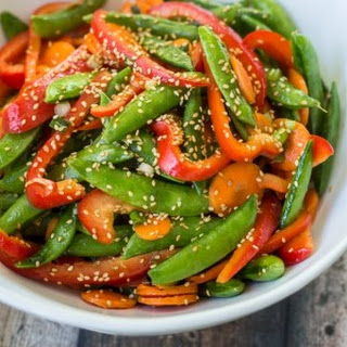 5 Minute Asian Snap Pea Salad.