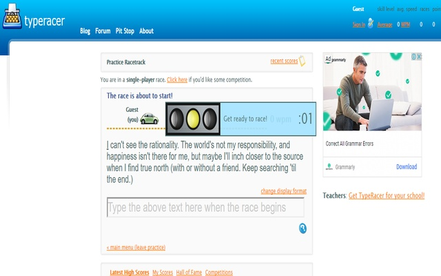 Typeracer Typing Assist