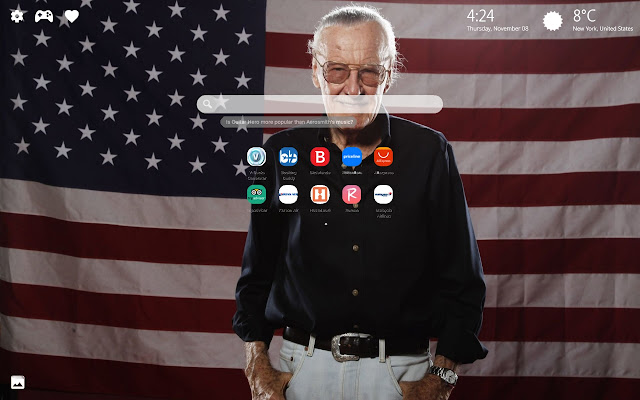 Stan Lee RIP Wallpapers New Tab Theme