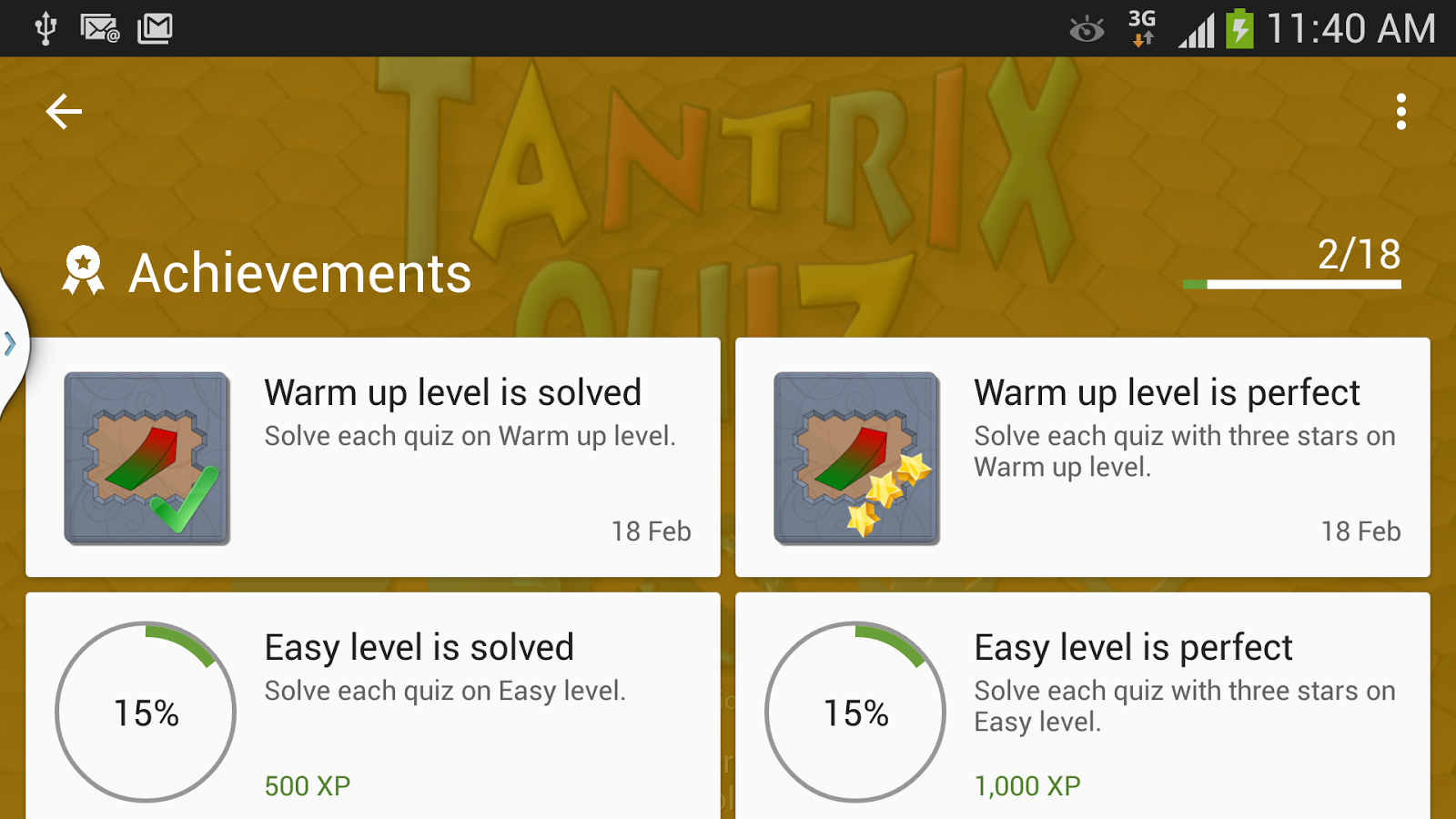 Tantrix Quiz- screenshot