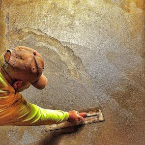 Carlos  by Dan Larsen - Uncategorized All Uncategorized ( troweling concrete,  )
