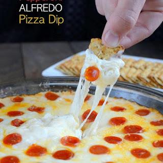 Pepperoni Alfredo Pizza Dip.