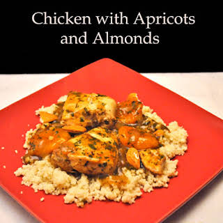Chicken Tagine with Apricots and Almonds.