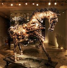 Photo: I know what your day was missing... a Steampunk Horse! :)   (can anyone name where this is was taken) :)