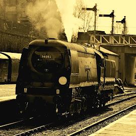 Spring Wells by Gordon Simpson - Transportation Trains