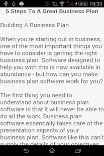 Business Plan Template Android Apps On Google Play - Create business plan template