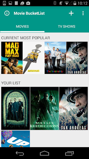 Movie Bucketlist - Watchlist 0.0.14 screenshots {n} 1