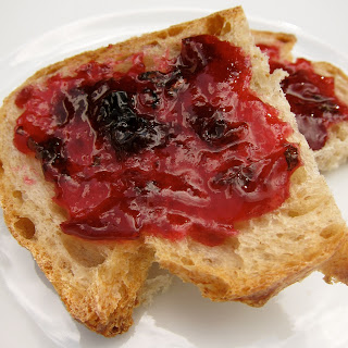Apricot, Blueberry and Basil Jam