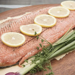 Oven-Baked Salmon With Herbs.
