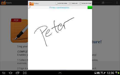 Handwritten PDF e-signatures screenshot 4