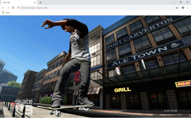 Skate 3 New Tab & Wallpapers Collection