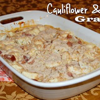 Cauliflower and Ham Gratin.