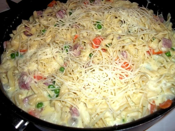 Add the milk mixture to the skillet and bring to a boil, stirring constantly...