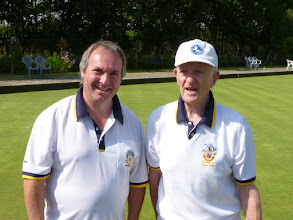 Photo: John Broomfield Handicap Champion and Peter Lillie Runner Up.