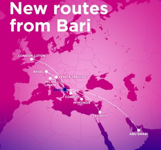 Wizz Air launches 8 new routes from/to ITALY