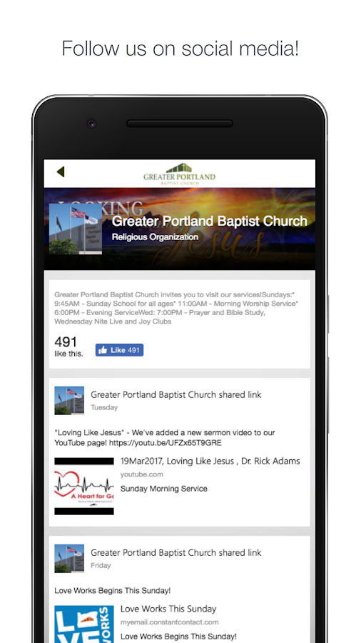 Greater Portland Baptist- screenshot