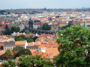 Photo: A view of Prague and the Charles Bridge